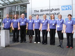 Singing Med team at BCH entrance