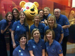 Singing Med team with Pudsey 2013