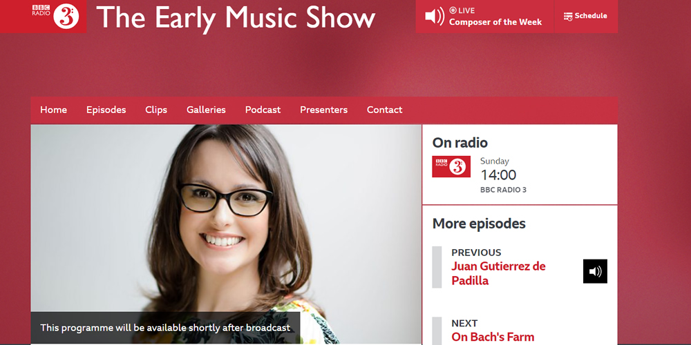 BBC Radio 3 Early Music Show - Jeffrey Skidmore profile